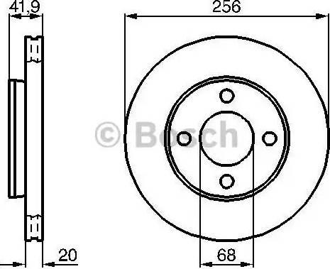 BOSCH 0 986 478 225 - Bremžu diski autodraugiem.lv