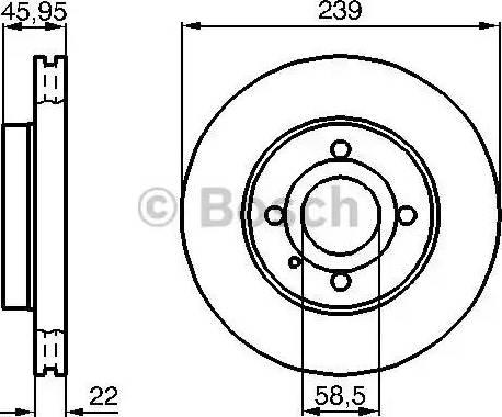 BOSCH 0 986 478 228 - Bremžu diski autodraugiem.lv