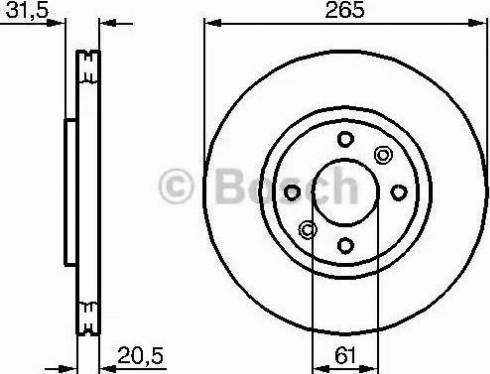 BOSCH 0 986 478 279 - Bremžu diski autodraugiem.lv
