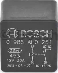 BOSCH 0986AH0251 - Relejs, Dzes. sist. radiatora ventilators autodraugiem.lv
