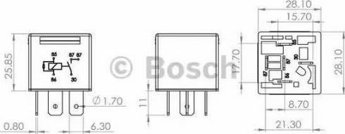 BOSCH 0 986 AH0 204 - Multifunkcionāls relejs autodraugiem.lv