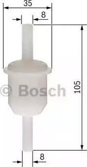 BOSCH 0450904058 - Degvielas filtrs autodraugiem.lv