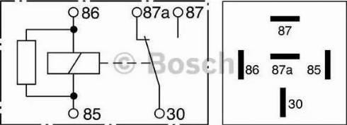 BOSCH 0332209206 - Relejs, Bremžu pretbloķēšanas sistēma autodraugiem.lv