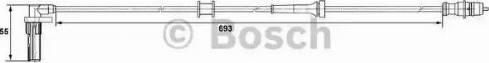 BOSCH 0265007531 - Devējs, Riteņu griešanās ātrums autodraugiem.lv
