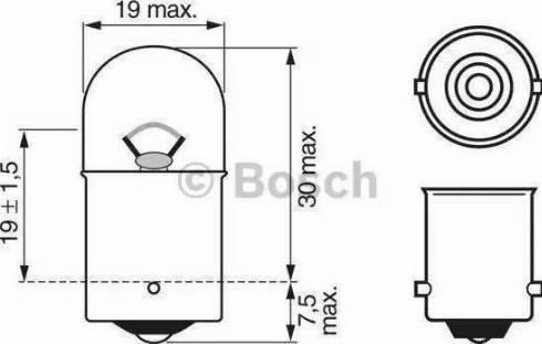 BOSCH 1987302284 - Kvēlspuldze, Stāvgaismas lukturi autodraugiem.lv