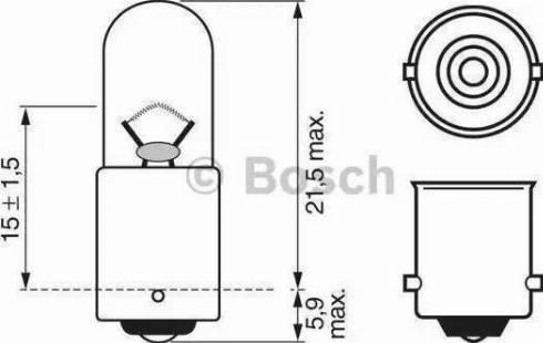 BOSCH 1987302207 - Kvēlspuldze, Stāvgaismas lukturi autodraugiem.lv