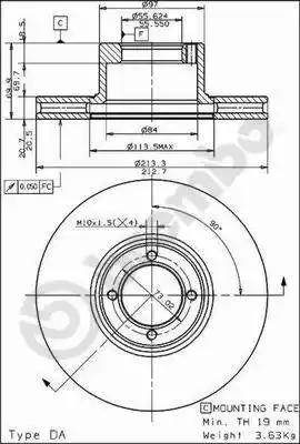 Brembo 09.4933.10 - Bremžu diski autodraugiem.lv