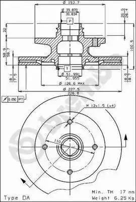 Brembo 09.4471.10 - Bremžu diski autodraugiem.lv