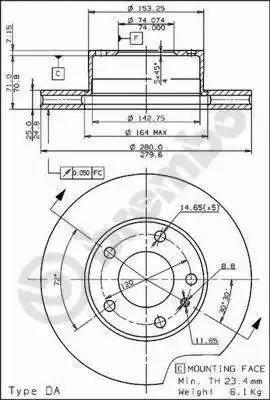 Brembo 09.5588.10 - Bremžu diski autodraugiem.lv