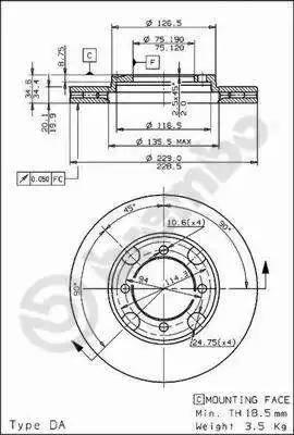 Brembo 09.5214.10 - Bremžu diski autodraugiem.lv
