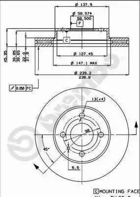 Brembo 09.3140.10 - Bremžu diski autodraugiem.lv