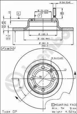 Brembo 08.4070.10 - Bremžu diski autodraugiem.lv