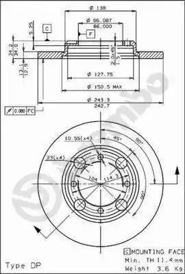 Brembo 08.4786.10 - Bremžu diski autodraugiem.lv