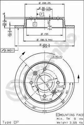 Brembo 08.5218.10 - Bremžu diski autodraugiem.lv