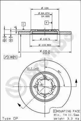 Brembo 08.6740.10 - Bremžu diski autodraugiem.lv