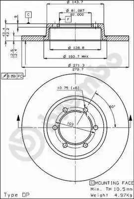 Brembo 08.3956.20 - Bremžu diski autodraugiem.lv