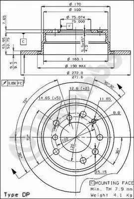 Brembo 08.2272.20 - Bremžu diski autodraugiem.lv