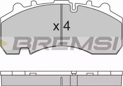 Bremsi BP7314 - Bremžu uzliku kompl., Disku bremzes autodraugiem.lv