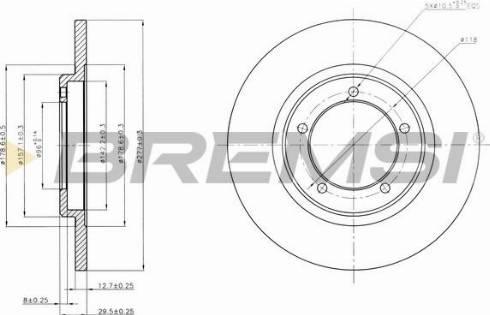 Bremsi CD6419S - Bremžu diski autodraugiem.lv