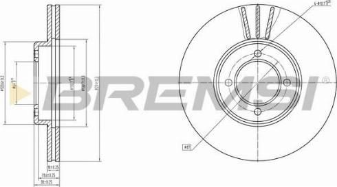 Bremsi CD6414V - Bremžu diski autodraugiem.lv