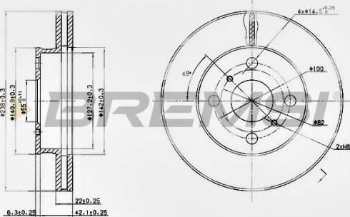 Bremsi CD6413V - Bremžu diski autodraugiem.lv