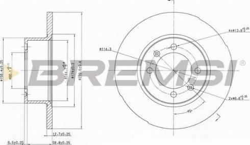Bremsi CD6056S - Bremžu diski autodraugiem.lv