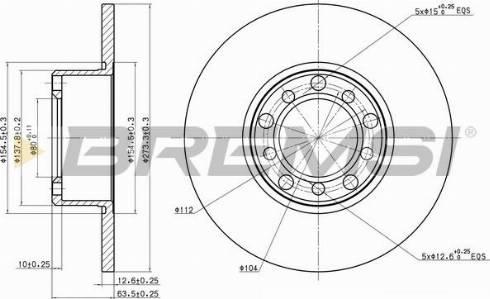 Bremsi CD6008S - Bremžu diski autodraugiem.lv