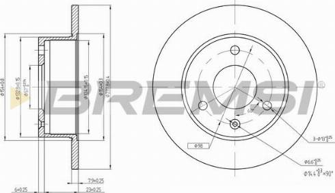 Bremsi CD6132S - Bremžu diski autodraugiem.lv