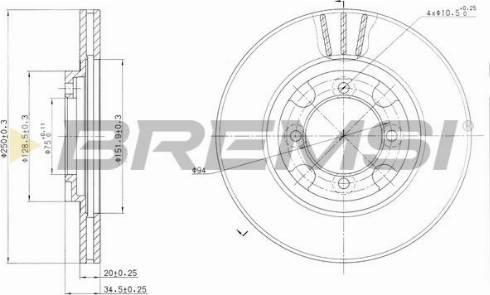 Bremsi CD6342V - Bremžu diski autodraugiem.lv