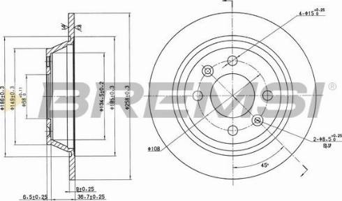 Bremsi CD6355S - Bremžu diski autodraugiem.lv