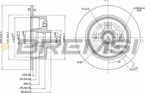 Bremsi CD6242S - Bremžu diski autodraugiem.lv