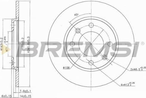 Bremsi CD6263S - Bremžu diski autodraugiem.lv