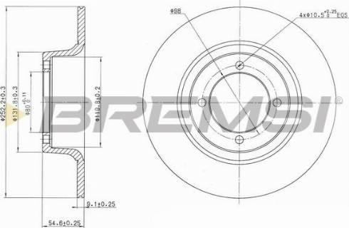 Bremsi CD6274S - Bremžu diski autodraugiem.lv