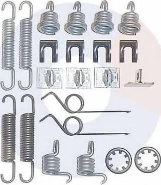 Carrab Brake Parts 3022 - Piederumu komplekts, Bremžu loki autodraugiem.lv