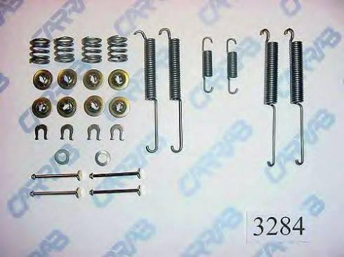 Carrab Brake Parts 3284 - Piederumu komplekts, Bremžu loki autodraugiem.lv