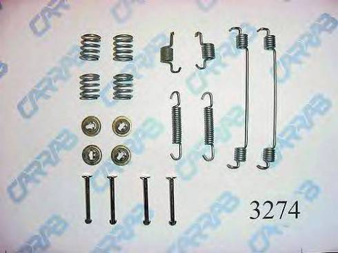 Carrab Brake Parts 3274 - Piederumu komplekts, Bremžu loki autodraugiem.lv