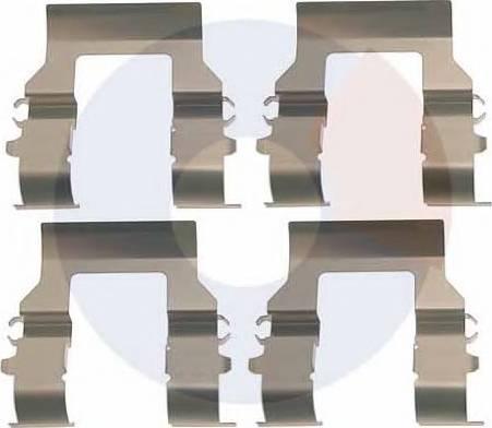 Carrab Brake Parts 2993 - Piederumu komplekts, Disku bremžu uzlikas autodraugiem.lv
