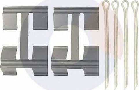 Carrab Brake Parts 2411 - Piederumu komplekts, Disku bremžu uzlikas autodraugiem.lv