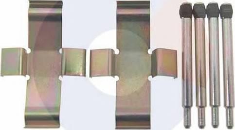Carrab Brake Parts 2043 - Piederumu komplekts, Disku bremžu uzlikas autodraugiem.lv