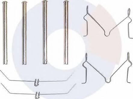 Carrab Brake Parts 2162 - Piederumu komplekts, Disku bremžu uzlikas autodraugiem.lv