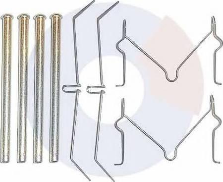 Carrab Brake Parts 2186 - Piederumu komplekts, Disku bremžu uzlikas autodraugiem.lv