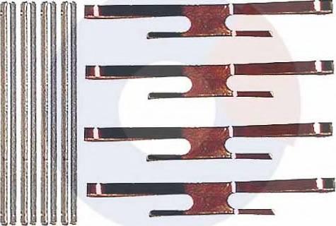 Carrab Brake Parts 2129 - Piederumu komplekts, Disku bremžu uzlikas autodraugiem.lv
