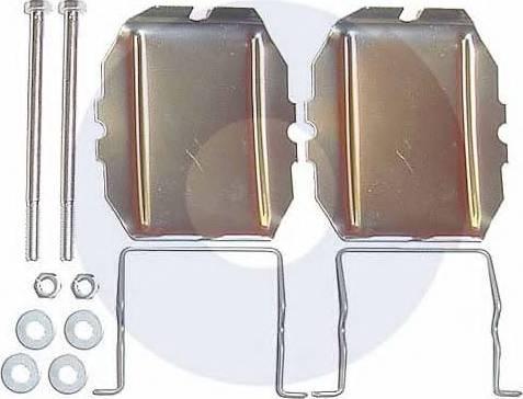 Carrab Brake Parts 2122 - Piederumu komplekts, Disku bremžu uzlikas autodraugiem.lv