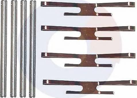 Carrab Brake Parts 2127 - Piederumu komplekts, Disku bremžu uzlikas autodraugiem.lv