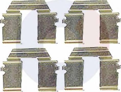 Carrab Brake Parts 2304 - Piederumu komplekts, Disku bremžu uzlikas autodraugiem.lv