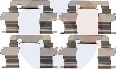 Carrab Brake Parts 2301 - Piederumu komplekts, Disku bremžu uzlikas autodraugiem.lv