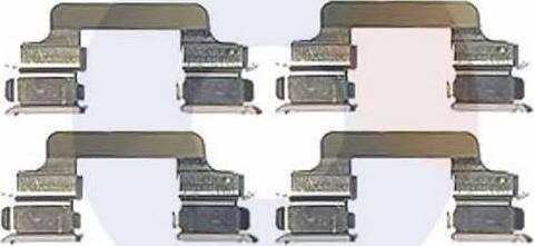Carrab Brake Parts 2303 - Piederumu komplekts, Disku bremžu uzlikas autodraugiem.lv