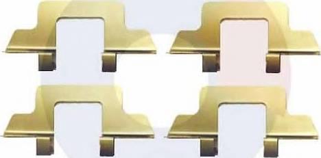 Carrab Brake Parts 2314 - Piederumu komplekts, Disku bremžu uzlikas autodraugiem.lv