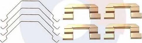 Carrab Brake Parts 2334 - Piederumu komplekts, Disku bremžu uzlikas autodraugiem.lv
