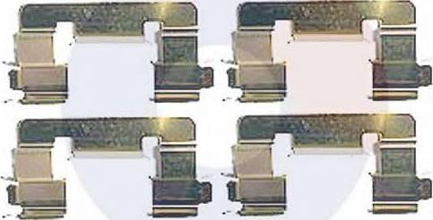 Carrab Brake Parts 2336 - Piederumu komplekts, Disku bremžu uzlikas autodraugiem.lv